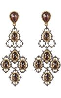 Alexis Bittar Crystal Studded Gold-plated Lace Chandelier Earring - Lyst