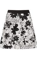 Topshop Flower Fold Aline Skirt - Lyst
