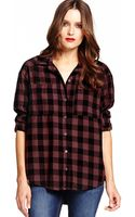 Michael Stars Relaxed Plaid Shirt - Lyst