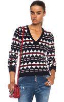 DSquared2 Wool Angora Jacquard Wool-blend Sweater - Lyst