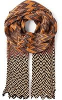 Missoni Patterned Scarf - Lyst