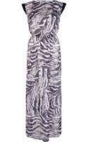 River Island Brown Animal Print Sequin Maxi Dress - Lyst