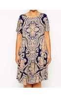 Asos Curve Swing Dress in Paisley - Lyst