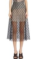 Stella McCartney Rose Lace A-line Skirt - Lyst