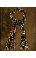 Denim & Supply Ralph Lauren Floralanimalprint Plush Scarf - Lyst