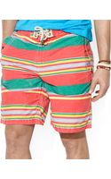 Polo Ralph Lauren Polo Safari Striped Swim Trunks - Lyst