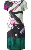Mary Katrantzou Abstract Printed Dress - Lyst
