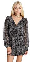 BCBGeneration Dropwaist Graphic Print Dress - Lyst