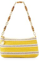 Eric Javits Bulu Bamboo Handle Clutch Bag Yellow Mix - Lyst