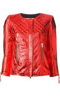 S.w.o.r.d Metallic Leather Jacket - Lyst