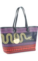 Jonathan Adler Snake Icon and Apple Charm Tote - Lyst