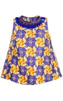 Mother Of Pearl Sleeveless Embellished Print Top - Lyst