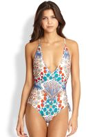 Marc By Marc Jacobs Onepiece Deepv Swimsuit - Lyst