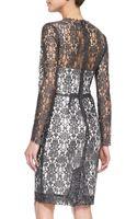 L'Agence Longsleeve Lace Dress Wslip - Lyst