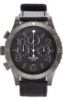Nixon 48-20 Chrono Leather - Lyst