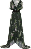 Marni Printed Silk-chiffon Maxi Dress - Lyst