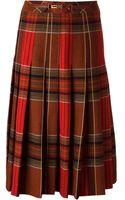 Céline Vintage Tartan Skirt - Lyst