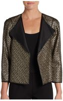 Lafayette 148 New York Tiana Leather-accented Jacket - Lyst