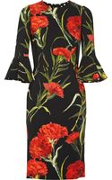 Dolce & Gabbana Floral-print Crepe Dress - Lyst