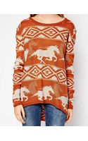 RVCA Buddy Sweater with Horse Print - Lyst