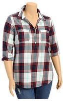 Old Navy Plus Plaid Flannel Popover Shirts - Lyst