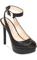 Jessica Simpson Careen Ankle Strap Platform Pumps - Lyst
