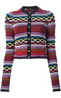 DSquared2 Pattern Knit Cardigan - Lyst