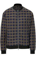 Marc By Marc Jacobs Raised Check Denim Jacket - Lyst