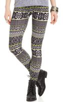 Material Girl Juniors Aztec Print Leggings - Lyst
