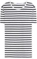 T By Alexander Wang Linen and Cotton Blend T-Shirt - Lyst
