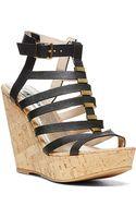 Steve Madden Indyanna Strappy Cork Platform Wedge Sandals - Lyst
