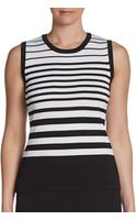 Calvin Klein Sleeveless Striped Tank Top - Lyst
