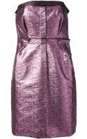 Lanvin Strapless Dress - Lyst
