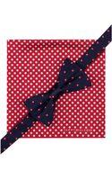 Tommy Hilfiger Flower Bow Tie Dot Pocket Square Set - Lyst
