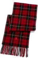 Polo Ralph Lauren Plaid Wool Scarf - Lyst