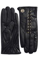 Michael Kors Studded Leather Gloves - Lyst