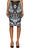 Marcelo Burlon County Of Milan Black Feather Pencil Skirt - Lyst