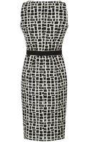 Paule Ka Graphic Check Dress - Lyst