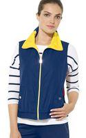 Ralph Lauren Lauren Reversible Zip Vest - Lyst