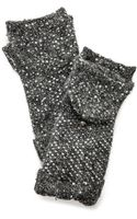 Kate Spade Cosmic Sequined Mittens - Grey - Lyst
