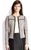 Rebecca Taylor Cropped Floraljacquard Jacket - Lyst
