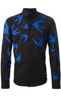 McQ by Alexander McQueen Swallow Print Shirt - Lyst