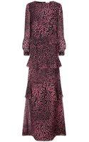 Vilshenko Black Print Silk Vera Dress - Lyst