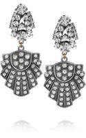 Lulu Frost Showcase Deco Silver-tone Crystal Earrings - Lyst