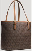 Michael by Michael Kors Tote Jet Set Large Snap Pocket - Lyst