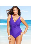 Miraclesuit Plus Size Oceanus One-piece Swimsuit - Lyst
