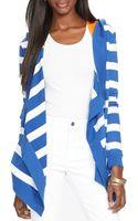 Ralph Lauren Lauren Hooded Stripe Cardigan - Lyst