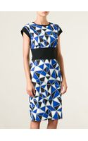 Fausto Puglisi Geometric Print Pencil Dress - Lyst