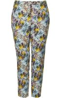 Topshop Mineral Marble Trousers - Lyst