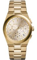Michael Kors Womens Chronograph Channing Goldtone Stainless Steel Bracelet Watch 38mm - Lyst